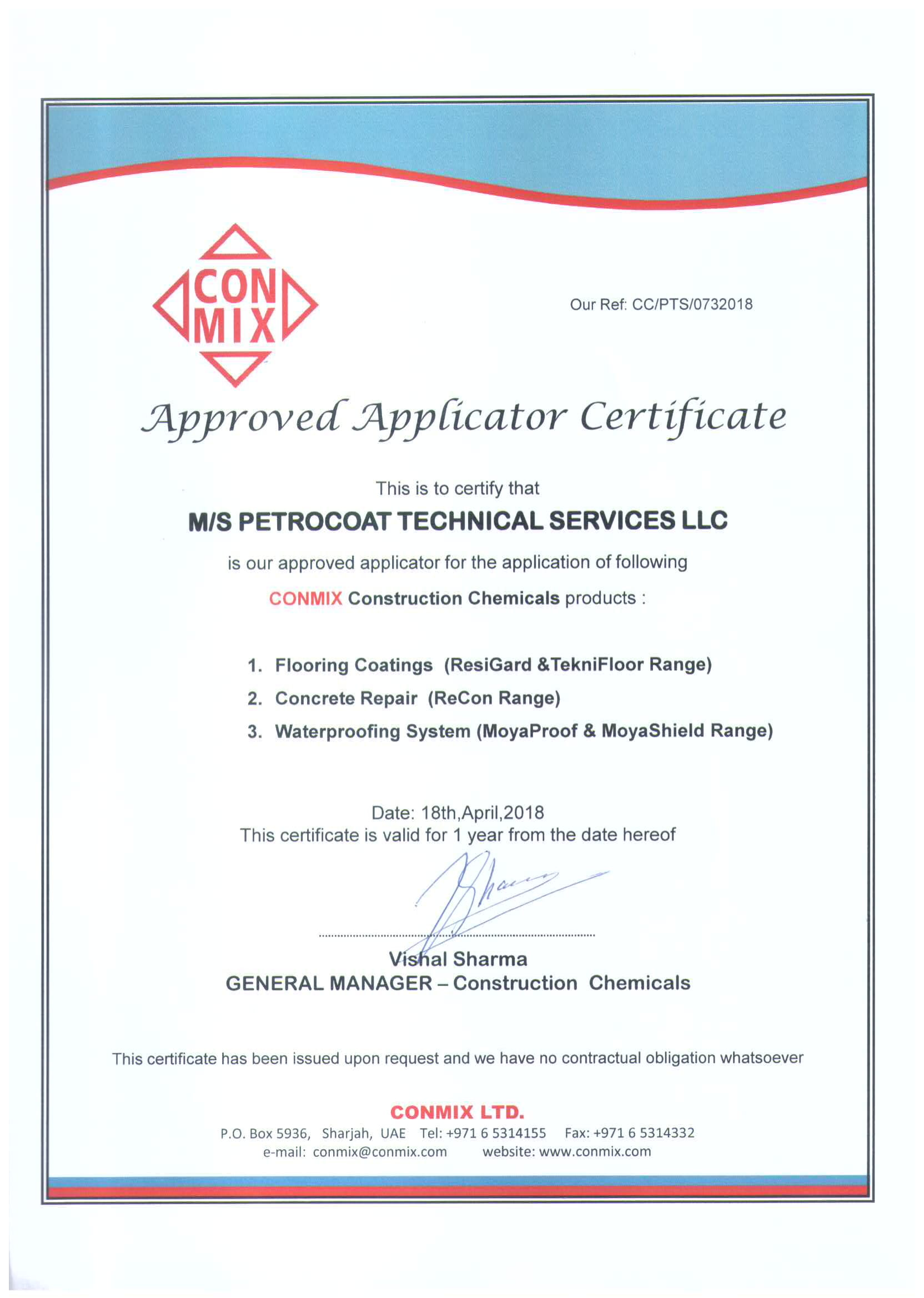 Certifications – Petrocoat Group